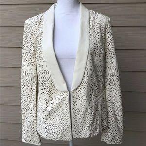 Dolce Vita Laser Cut Faux Leather Blazer Jacket